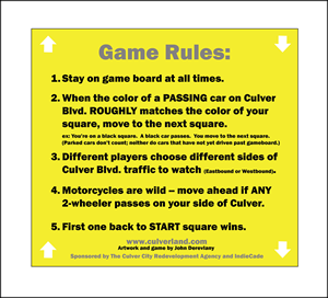 The basic rules of the game can be found on the yellow squares of the